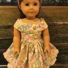"""Pink Floral Dress to fit American Girl Doll, 18"""" Dolls"""
