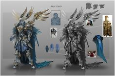 Ark Lord, Alexandr Pechenkin on ArtStation Character Model Sheet, Fantasy Character Design, Character Concept, Armor Concept, Concept Art, Armor Games, Zbrush Character, Visual Development, Fantasy Rpg