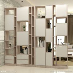 Home Bookcases - Bookcase # # Creative # # . Living Room Partition Design, Living Room Divider, Room Partition Designs, Interior Design Living Room, Living Room Designs, Shelf Design, Cabinet Design, Room Deviders, Room Divider Shelves