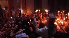 Thousands of Orthodox Christian worshippers celebrate Easter's Holy Fire ceremony at the Church of the Holy Sepulchre in Jerusalem (click on the pin and watch the .37 minute video)