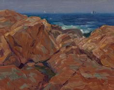"""""""Dark Sea,"""" Charles S. Kaelin, oil on canvas laid on board, 8 x 10"""", private collection."""