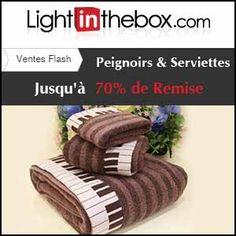 #missbonreduction; Vente Flash : jusqu'à 70 % de remise sur les Peignoirs&Serviettes chez Light in the box.http://www.miss-bon-reduction.fr//details-bon-reduction-Light-in-the-box-i852558-c1840194.html