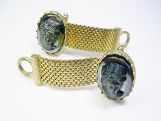 Vintage DANTE Cufflinks gold color Mesh Wrap by unclesteampunk