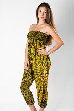 bc39f784f1d47 Black Yellow Ikat Navajo Harem Pant jumpsuit  clothing  women  pants   EtsyMktgTool http