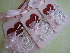 https://flic.kr/p/5TsUyX   Sweet Pink Tags   Handmade by me..