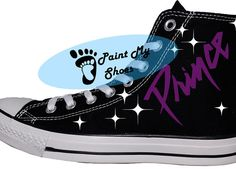 Prince When Doves Cry 1999  converse hand painted by PaintMyShoes2