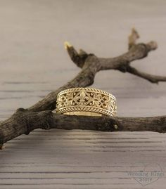 Unique wedding band in antique style Unusual yellow gold ring Filigree gold ring Wedding band with pattern Anniversary ring Unique wedding band in antique style Unusual yellow gold ring Filigree gold ring Wedding band with pattern Anniversary ring Wedding Ring Styles, Unique Wedding Bands, Wedding Ring Bands, Unique Weddings, Bridal Rings, Rose Gold Engagement Ring, Vintage Engagement Rings, Yellow Gold Rings, White Gold