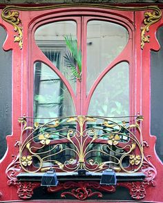 Art Nouveau window frame, Barcelona.