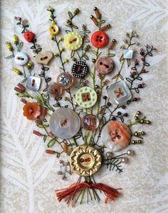 Embroidery by Гіпермаркет рукоділля (Needlework Market) Ribbon Embroidery, Cross Stitch Embroidery, Embroidery Patterns, Modern Embroidery, Crafts To Make, Arts And Crafts, Craft Projects, Sewing Projects, Vintage Jewelry Crafts