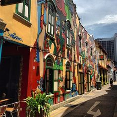 Painted shophouses @ Bali lane, Arab street, little India, Chinatown, etc