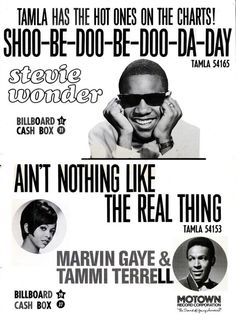 1968 Motown promotion poster with Stevie Wonder and Marvin Gaye & Tammi Terrell