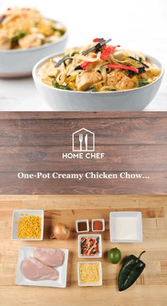 One-Pot Creamy Chicken Chowder with poblano and crispy tortillas Chili's Chicken Enchilada Soup, Chicken Cheese Enchiladas, Creamy Chicken Tortilla Soup, Chicken Corn Chowder, Vegetarian Enchiladas, Diced Chicken, Cheesy Chicken, Mexican Food Recipes, Soup Recipes