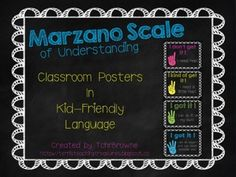 Marzano Scale of Understanding Posters -- Bright Colors $