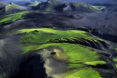 More from my favorite aerial photograhper.  This is mountainous countryside near Maelifellssandur, Iceland.