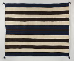 Wearing Blanket Geography:United States, Arizona or New Mexico Culture:Navajo Medium:Wool Dimensions:H. 60 x W. 71 in. x cm) Classification:Textiles-Woven Navajo Weaving, Navajo Rugs, Weaving Art, Native American Blanket, Native American Rugs, Textiles, Indian Blankets, Mexico Culture, Loom Knitting Projects