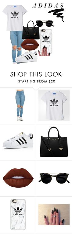 """""""adidass"""" by dannaaaaaa on Polyvore featuring adidas, Michael Kors, Lime Crime, Casetify, casual and slayyy"""