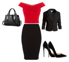 """""""Office Ready"""" by garrimamehra ❤ liked on Polyvore featuring Christian Louboutin and Sans Souci"""