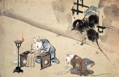 "animus-inviolabilis: "" Mice Studying Kyosai Kawanabe """