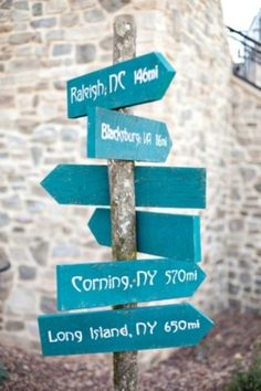 Make a sign with mileage of all cities you have lived in past in your future home to remember past homes and memories in those cities