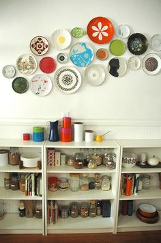 LOVE this plate arrangement @Lisa Congdon