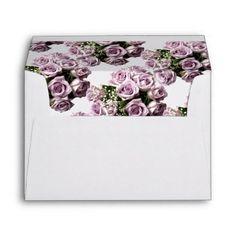 #bride - #Card Envelope-Lavender Roses Envelope