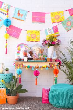 Chicks and Churros Fiesta Party Plan your own Boho Fiesta Party for Cinco De Mayo or girls night!Plan your own Boho Fiesta Party for Cinco De Mayo or girls night! Festa Party, Diy Party, Party Girl Quotes, Bd Design, Mexican Fiesta Party, Llama Birthday, Bachelorette Party Decorations, Decoration Party, Super Party