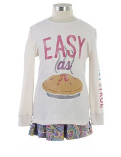 Easy As Pi Tee - Tops + Tees - Categories - girls Johnson Space Center, Graphic Tees, Graphic Sweatshirt, Designer Kids Clothes, Tween Girls, Cool Kids, Girl Outfits, Sweatshirts, Easy
