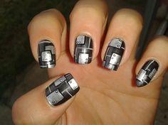 SHIELD NAILS!!! by R7777 - Nail Art Gallery nailartgallery.nailsmag.com by Nails Magazine www.nailsmag.com #nailart