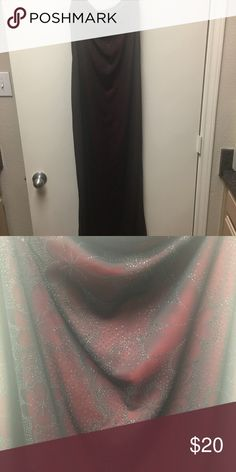 Evening dress Red with black sheer and silver glitter flower pattern overlay. Worn once. Dresses Maxi