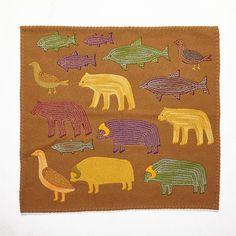 Attr: VICTORIA MAMNGUQSUALUK (1930-), MANY ARCTIC ANIMALS, d