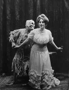 Joseph Hall, Death & The Lady, Vaudeville act about the evils of card play and alcohol, 1906.