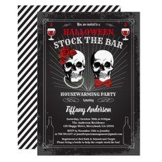 #Halloween Stock The Bar housewarming party Invitation - #halloween #invitation #cards #party #parties #invitations #card