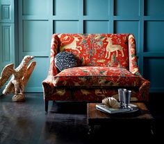 From Zoffany's new Collection. Inspired by historic English wall coverings now available as wallpapers and fabrics! and wicked interiors for your http://wicked-moi.com