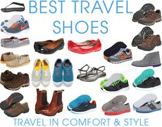 A thorough look at the best travel shoes with lots of ideas and options