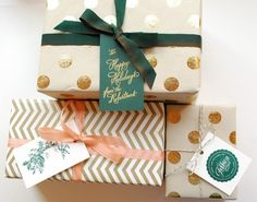 DIY Holiday Gift Wrap Tutorial by Antiquaria via Oh So Beautiful Paper
