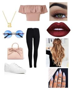 A fashion look from May 2017 featuring shirt crop top, highwaist jeans and laced shoes. Browse and shop related looks. Cute Everyday Outfits, Cute Swag Outfits, Hot Outfits, Edgy Outfits, Teenage Girl Outfits, Girls Fashion Clothes, Outfits For Teens, Fashion Outfits, Cute Fashion