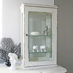 Vintage glass front wall cabinet all logical