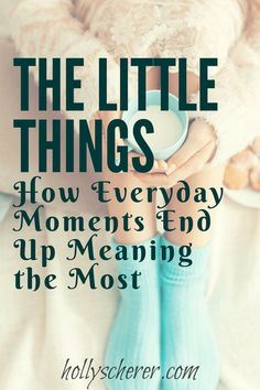 The Little Things – How Everyday Moments End Up Meaning the Most - Holly Scherer