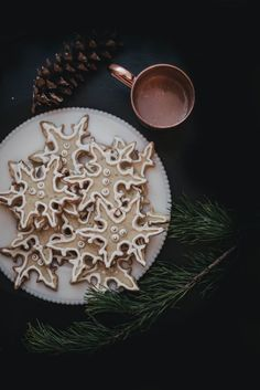 A Local Milk Christmas | Fennel Rosemary Snowflake Cookies + Foraged Gift Wrapping, DIY Tree Trimming Garland, and recipe for Balsam Fir Syrup