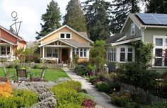 "Bob's Tip of the Day: Suburban sprawl and ""starter mansions"" are out of style. Folks are rediscovering the ease of living within walking distance to public transportation, shopping, and even their neighbors, and they're sacrificing extra space to make convenience and community affordable. The concept of a suburban ""pocket neighborhood"" is springing up across the US: shared open space and amenities are coupled with densely organized, small-footprint homes designed to minimize energy costs."
