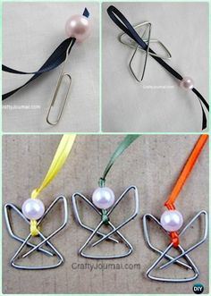DIY Paperclip Angel Ornament Instruction - DIY #Christmas #Ornament Craft Ideas For Kids