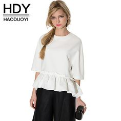 Like and Share if you want this New Women Elegant Ruffle Tee Shirt  Asymmetric Top Summer 634e758f899b