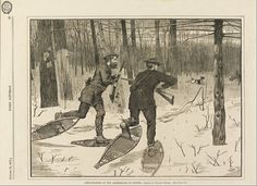 Canvas Art Prints Stretched Framed Painting Winslow Homer Deer-stalking Adirondacks Winter Every Saturday January 21 1871 P 57 $13.53