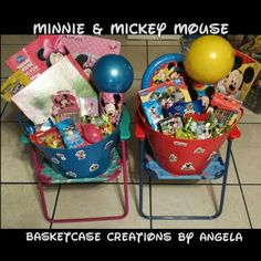 Not your traditional easter basket love this for any little boy minnie mickey mouse easter baskets negle Image collections