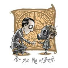 Tim Burton style 'are you my mummy?'