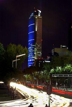 Torre Mayor at nigth