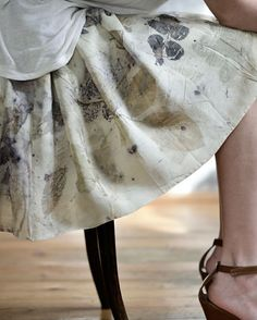 ecoprinted silk by YOD Photographer: Kalin Ruichev Model: Miroslava Zahova Hair and make-up: Mila Ateva