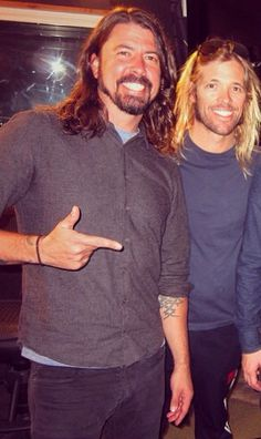 Dave grohl and Taylor hawkins today. Howard stern. Dec 3 2014
