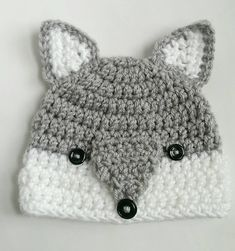 wolf hat woodlands animal handmade crochet knit hat beanie by TheFreckledPurl on Etsy https://www.etsy.com/listing/255056855/wolf-hat-woodlands-animal-handmade #Crochethats