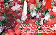 Salada de frango do mediterrâneo #salada #receitas #receitaslight #fitness